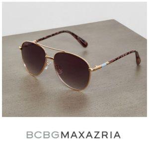 BCBGMaxazaria Aviator B862 turquoise sunglasses